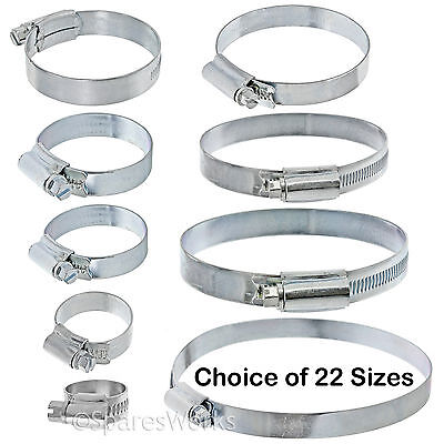 3 Dishwasher Drain Fill Hose Pipe Worm Drive Jubilee Clip Clamp Steel Tube Seal