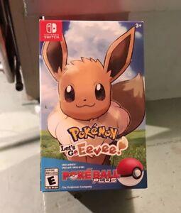 Pokemon-Let-039-s-Go-Eevee-Poke-Ball-Plus-Bundle-Nintendo-Switch-Sealed