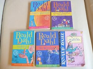 5 ROALD DAHL Books -  BULK LOT !!