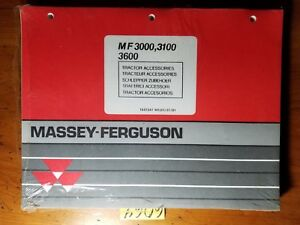 Details about Massey Ferguson M-F MF 3000 3100 3600 Tractor Accessories  Parts Book Manual 7/91