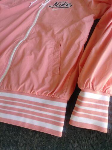 mujer Logo Pink con Nike capucha y para Tamaño capucha y pequeño cremallera con Script cremallera Chaqueta wzOPFP
