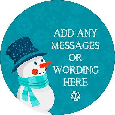 Collezione Qui Felice Natale Pupazzo Di Neve Adesivo Con Le Etichette Per Party Borsa Dolce Coni-mostra Il Titolo Originale