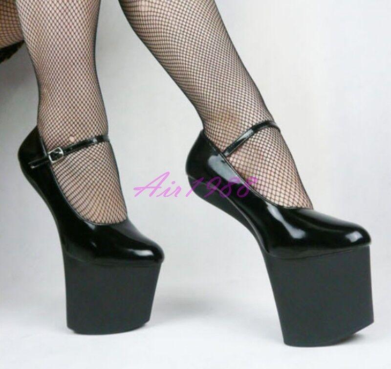 Sexy Donna Clubwear Super High Platform Heels Pumps Party Shoes Plus SZ   5-12