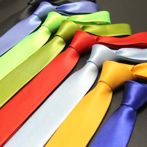 Cravate FASHION SLIM Satinée 50 Couleurs 140cm Neuf Port Gratuit