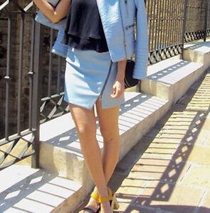 m Blue Mini Zara Taglia Party Xs Pastel Gonna p0qz5wAxaz