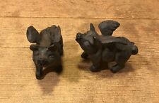 "Small Flying Pig Cast Iron 2 3/4"" (Set of Two) Office Paper Weight 0184S-10006"