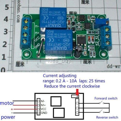 24V dc Brush motor reversing control Overload overcurrent Stall Protection board