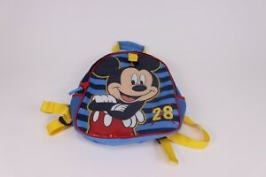 Image is loading Disney-Mickey-Mouse-Kids-Toddler-Backpack-School-Bookbag- 8f3b481ed6496