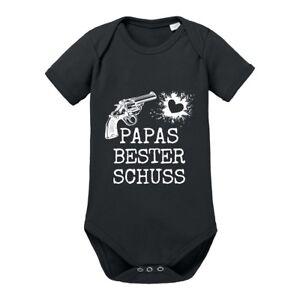 Kinder-Babybody-Modell-034-PAPAS-BESTER-SCHUSS-034-100-Baumwolle