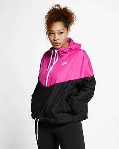 de Rosa Nike Talla 1X Deportiva Fucsia Heritage Detalles Negro Mujer Jersey Chaqueta Grande Nnv0Oywm8