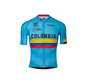 2019-Suarez-Colombian-Federation-Pro-Men-039-s-Short-Sleeve-Cycling-Jersey-in-Blue