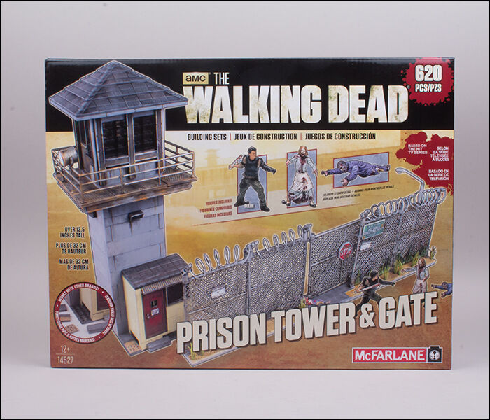 Prison tower & & & Gate the walking dead horreur Building set tv MBS 14527 McFarlane 22dfef