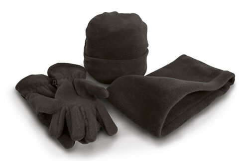 Result Winter Essentials Warm Active Fleece Accessory Xet Gloves Hat Snood New