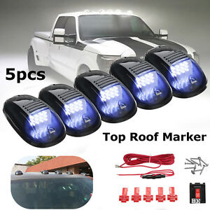 Image Is Loading 5pcs Smoked Cab Roof Top Led Marker Running