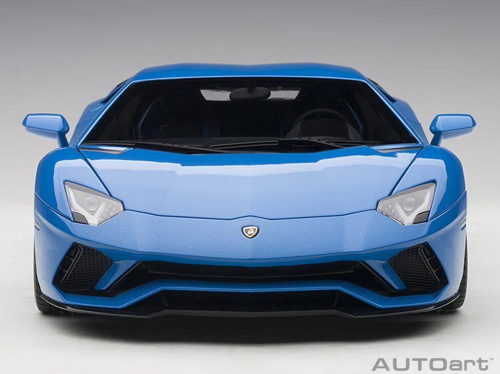 Autoart 1/18 Lamborghini Aventador S blu Nila / Pearl blu 79134