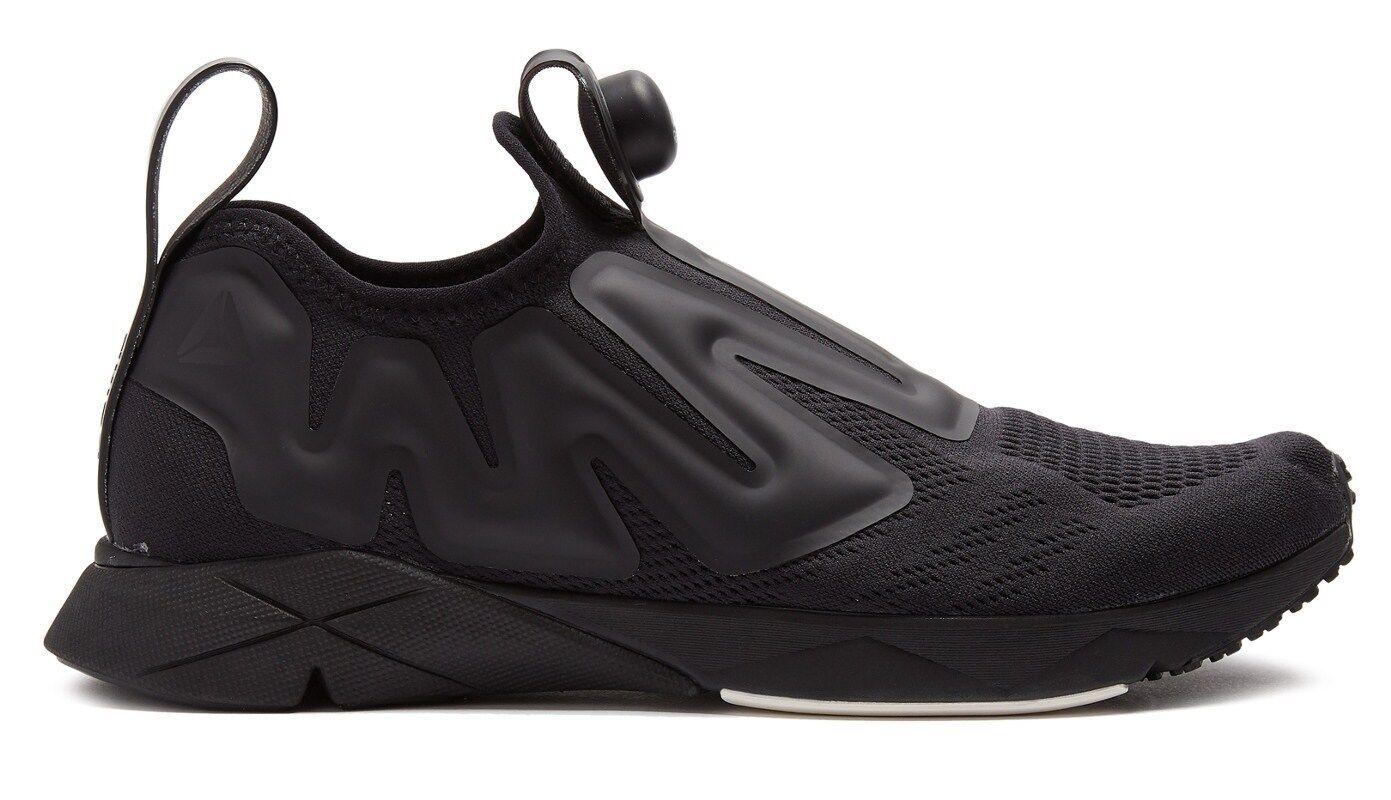 REEBOK 'Pump Supreme Engine Low-Top Mesh' Trainers Sneakers Black US 9.0 **NIB**
