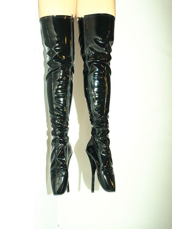 high heels latex 40-47 gummi stiefel boots  40-47 latex absatz 21cm produce poland ballet 4f85a2