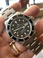 Rolex Submariner Black Men's Green Bezel Watch - 16610