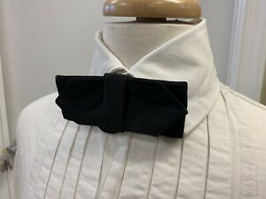 à boucle 19th siècle-style victorien homme en coton Noir Cravate//Cravate nouveau