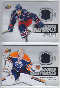 2014-15-UD-SERIES-LAURENT-BROSSOIT-ROOKIE-MATERIALS-RM21-RC-Upper-Deck-Oilers