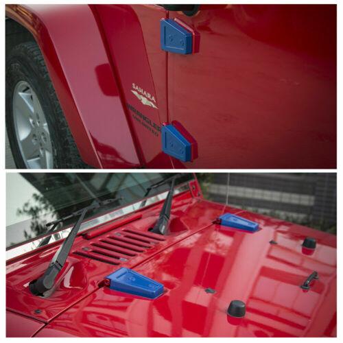 Door Engine Cover Hood Hinge Decor Cover Trim Fit For Jeep Wrangler JK 2007-2017