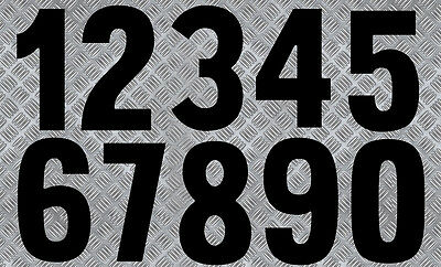 NUMERO COURSE POLY CARENAGE MOTO QUAD SCOOTER AUTOCOLLANT STICKER NU012 OR