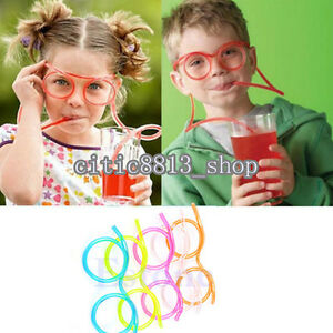 Cute Novelty Fun Drinking Unique Flexible Soft Glasses Straw Glasses Drink Tube