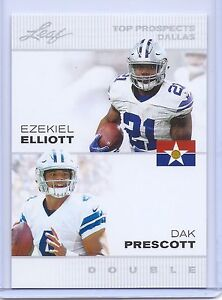 EZEKIEL-ELLIOTT-amp-DAK-PRESCOTT-2016-LEAF-034-1ST-EVER-PRINTED-034-COWBOYS-ROOKIE-CARD