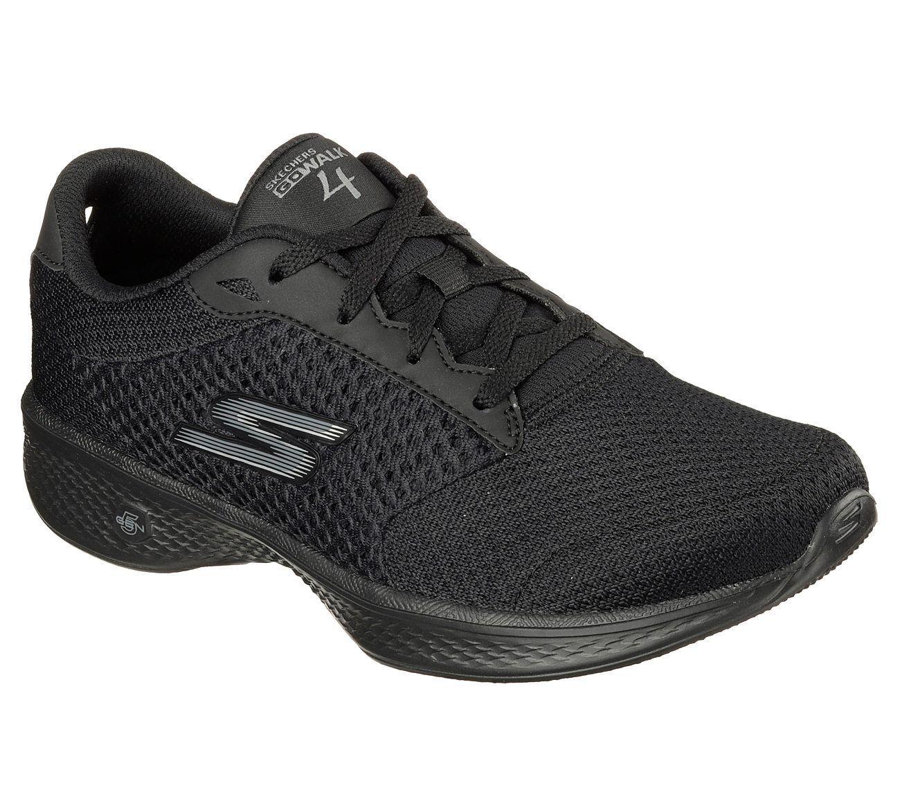 New Womens Skechers GoWalk 4 Black Exceed Shoe Style 14146 Black 4 81K dr 0ccfa9