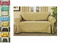 Sofa Throw Cover Couch Protector 70 X 140, 7 Colors Luxury Linen Woven Design