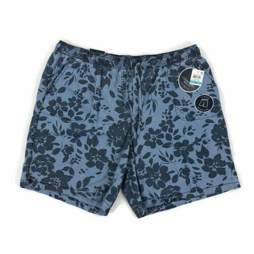 Karen Scott Women/'s Shorts Drawstring Floral Print Chambray Blue Plus Size