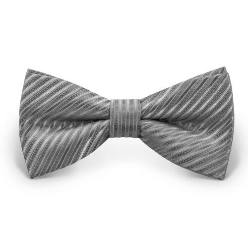 Fliege Schleife Größe verstellbar Busniess 12 cm Herren Hochzeit Anzug gestreift