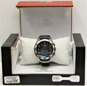 Tissot-Sailing-Touch-Watch-Black-Dial-w-Original-Box