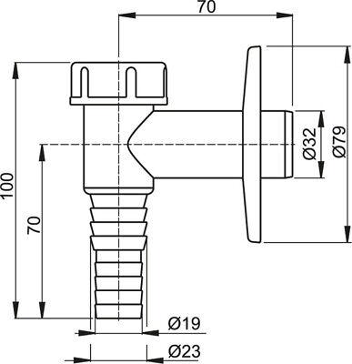 Siphon Sifon 32 Mm Abfluss Abwasser Waschgeräte Abfluß