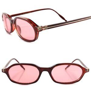 Deadstock 80s Hipster True Vintage Mens Womens Pink Lens Rectangle ... e1ea7d308