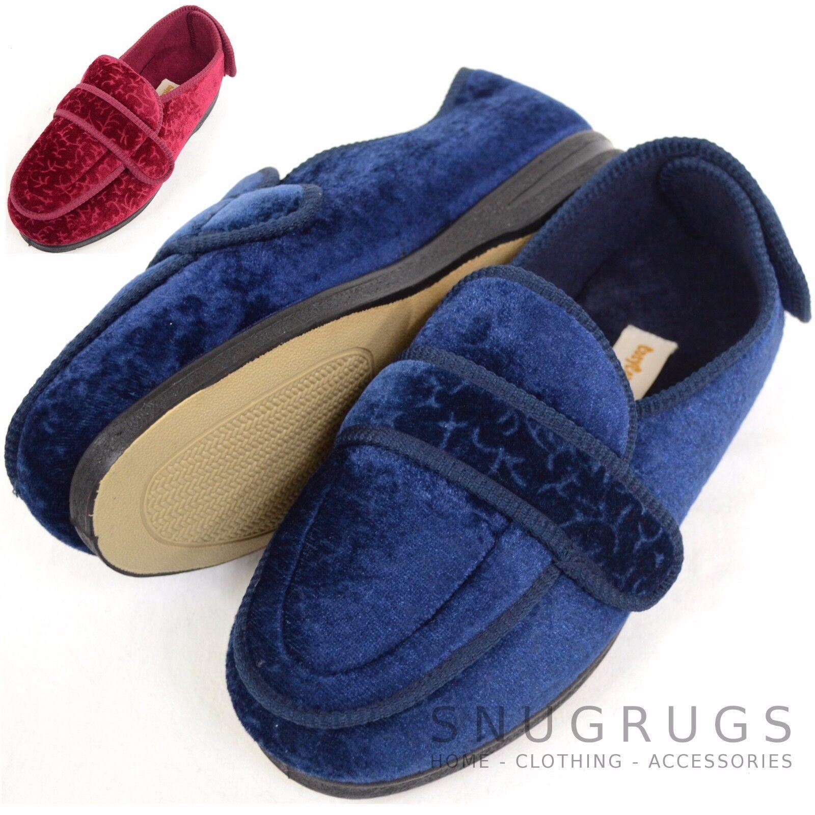 FEMMES / coupe FEMMES orthopédique / Eee coupe / large Chaussons bottines/pantoufles de14e1