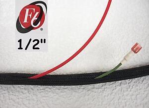 "1/2"" Flexo F6 Braided Cable Sleeving Wrap, Split Loom, Techflex F6N0.50BK"