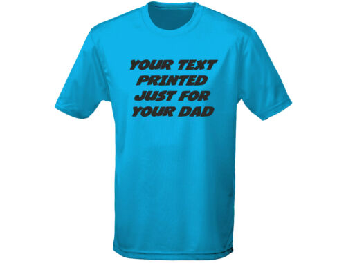 12 Colours Personalised Dad Mens Fathers Day//Birthday T-Shirt