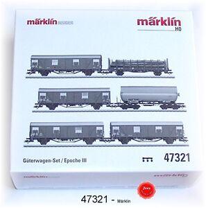Märklin 47321 Ensemble De Wagons Marchandises Db 6 Éléments #