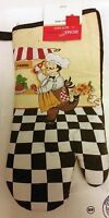 Rare Fat Chef Printed 13 Large Oven Mitt, Running Chef, Panini, By Home Trends