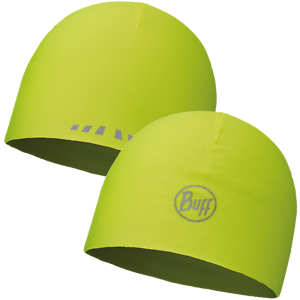 Buff Microfibre Réversible Réfléchissant Jaune Fluor Beanie Hat-travail Cyclisme