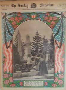 1908 Vintage Newspaper Civil War Memorial-Blue Gray-Portland Crafts