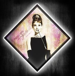 Bild-Audrey-Hepburn-LED-Leinwand-Bilder-mit-Fernbedienung-Kunstdruck-Wandbild-xl