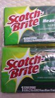 6 Pack Scotch Brite Heavy Duty Scrub Sponge 3m Fibra Para Trabajos Pesados