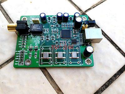 upgrade XMOS XU208 Asynchronous USB coaxial fiber output IIS 0.1pm crystal