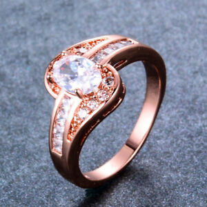 Diamond 4ct Oval Cut Vvs1 Diamond Engagement Ring 14k Rose Gold Finish Classic Solitaire Fine Rings