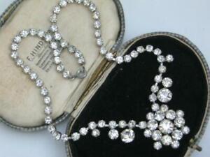 QUALITY-1950s-GLAMOUR-Vintage-DIAMOND-CRYSTAL-RHINESTONE-princess-drop-necklace