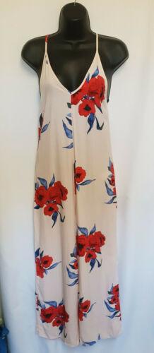 Topshop Off White Floral Shoe String Back Wide Leg Jumpsuit Sizes 6 /& 16