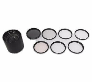Ilex 8 1/4 Camera Lenses f:6.3 & Lot of 7 Camera Filter Lenses