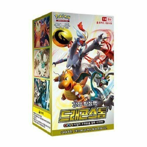 "Pokemon Cards Sun/&Moon ""Dragon Storm"" Booster Box SM6a 20 Pack Korean Ver"